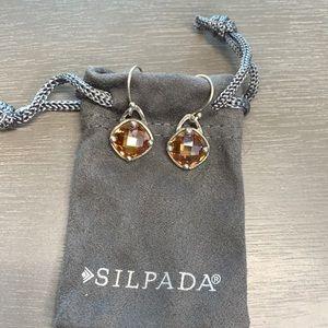 W2276 Silpada sterling Champagne toast earrings